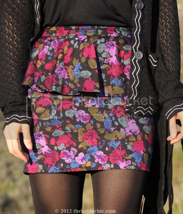 black Missoni for Target cardigan, Forever 21 floral peplum skirt, Los Angeles fashion blog, southern California style