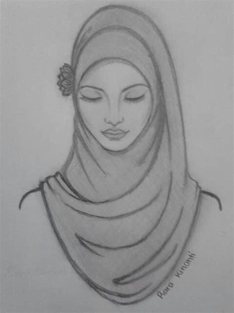 beautiful hijab sketching illustrations pinterest