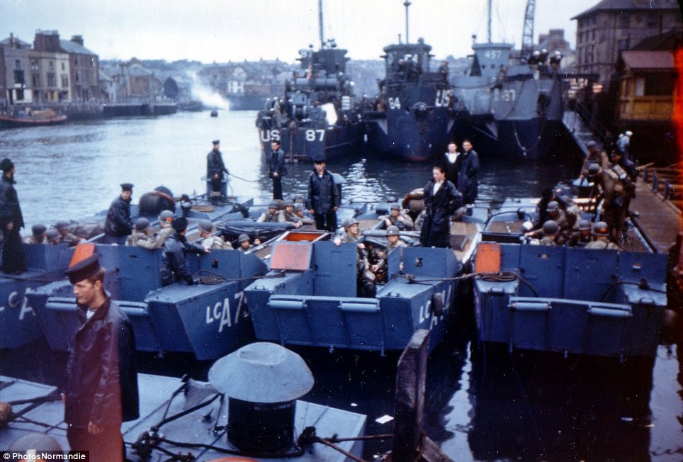 Embarkation: D-day, or Operation Overlord, saw troops setting off from Weymouth for the invasion of Normandy