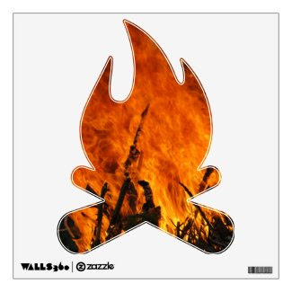 Raging Fire Wall Graphic