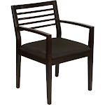 Wood Frame Guest Chair With Upholstered Seat