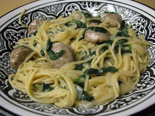 Sausage Spinach Pasta Dinner