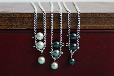 Pearl Necklace DIY Tutorial with Ladder Design   Crafts
