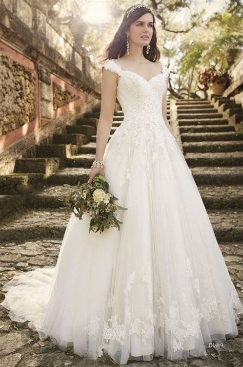Picture Of ivory lace dress with straps looks princess
