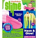 Nickelodeon Make Your Own Neon & Glow Slime Kit By Cra-z-art