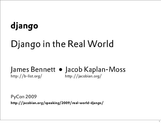 Django in the Real World