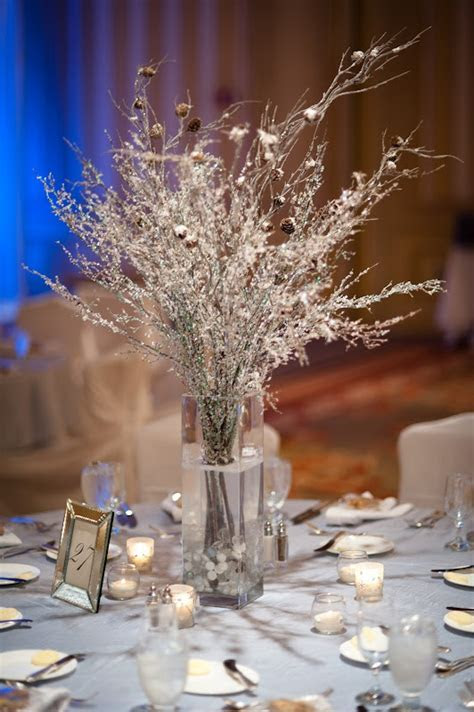 Ruffled®   ced Branches and Snow with Pine cone Branches