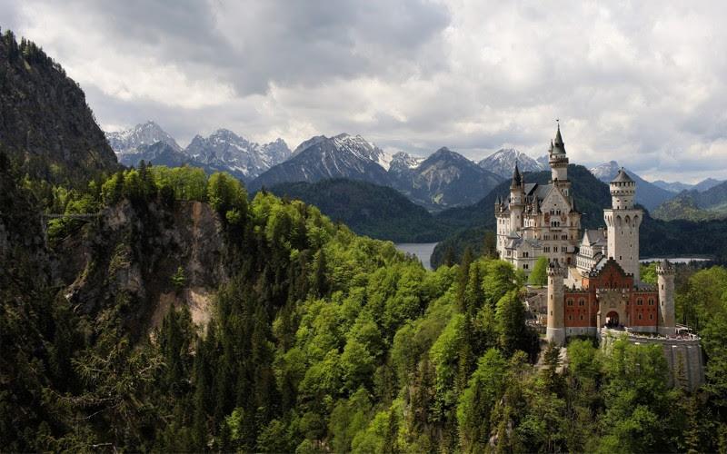 Замок Нойшванштайн, Германия. Построен в 1869—1886 году. европа, замки, история, средневековье
