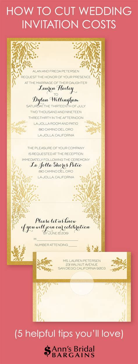 How to Cut Wedding Invitation Costs   Ann's Bridal Bargains
