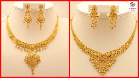 Latest Gold Necklace Designs With Weight and Price   Girls