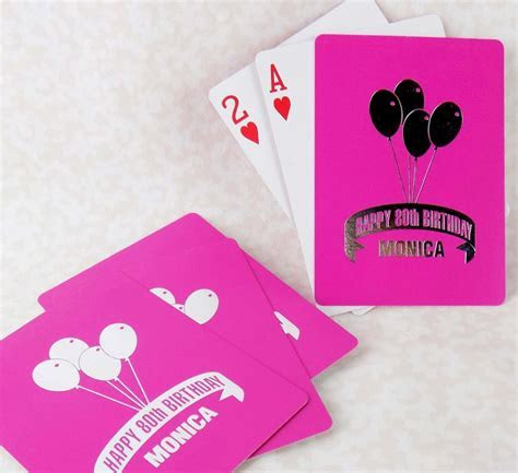 Personalized Playing Cards   Birthday