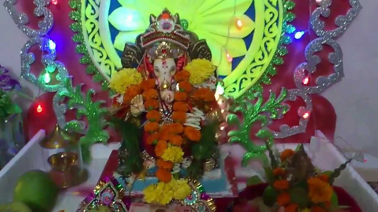 Ganesh  Festival Home  Decoration  Mumbai YouTube