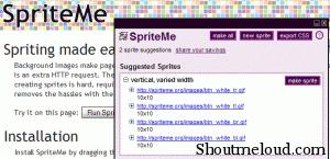 CSS Sprites SpriteMe 300x145
