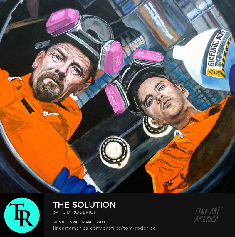 Portrait of Walter White and Jesse Pinkman by Boulder artist Tom Roderick