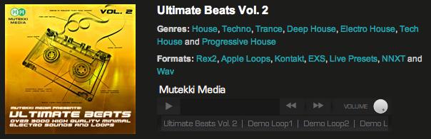 Ultimate Beats Vol2, House Drum Samples, Progressive House Beats, Mutekki Media, Techno Loops, Electro