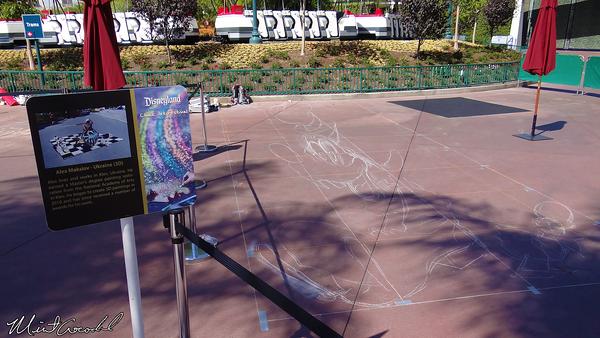 Disneyland Resort, 3D, Chalk, Drawing