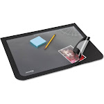 Artistic Lift-Top Pad Desktop Organizer with Clear Overlay 22 x 17 Black