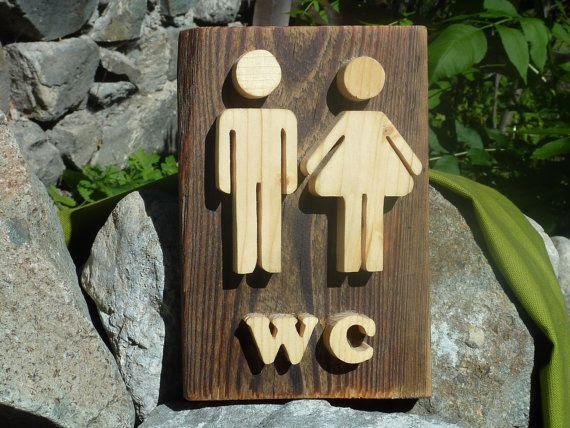 sign  sign door rustic   restroom toilet rustic  sign sign restroom sign Wood    wall
