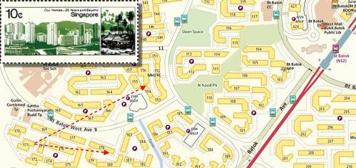 Bukit Batok Map and Stamp