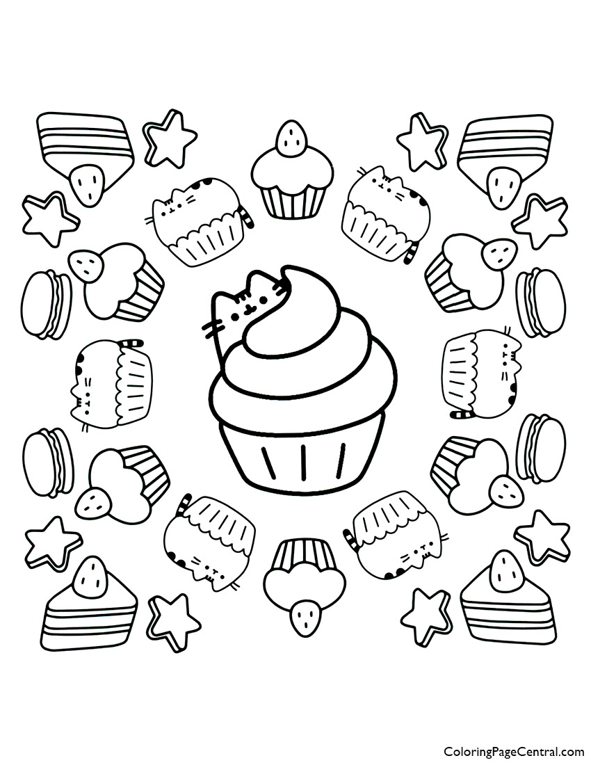 Pusheen Colouring Pages Coloringnori Coloring Pages For Kids