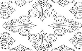 Gambar Sketsa Batik Yang Mudah Ditiru