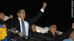 President Rafael Correa has called Thursday's police uprising an attempted coup.
