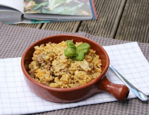 Artichoke & Italian Sausage Risotto 3
