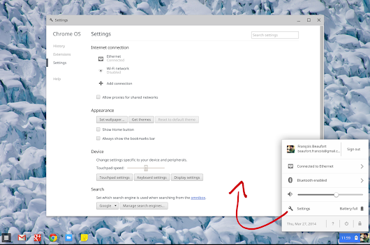 Chromebook settings will no longer look like a browser