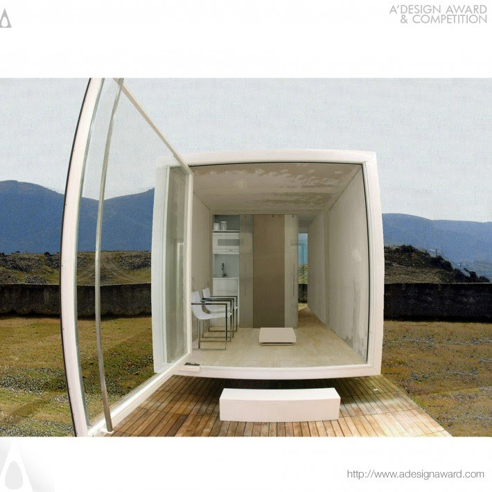 Absolute Box Small House Post Disaster Design