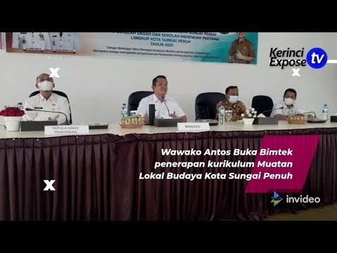 Wawako Antos Buka Bimtek Penerapan Kurikulum Muatan Lokal Budaya Kota Sungai Penuh