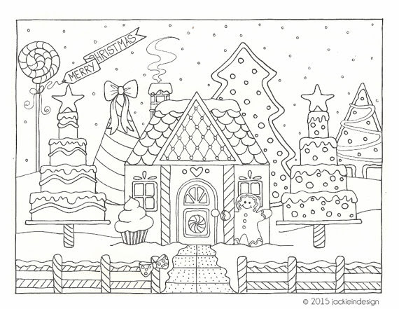 Gingerbread House Drawing at GetDrawings   Free download