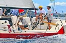 J/100 Bad Girl sailing St Thomas Regatta