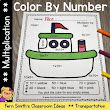 Color By Numbers Transportation Multiplication