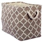 DII Rectangle Modern Polyester Lattice Large Storage Bin in Brown - CAMZ37873