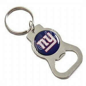 NFL New York Giants Silver Bottle Opener Keychain Key Ring  eBay