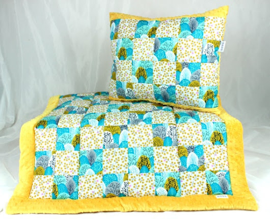 Baby Quilt Blanket Patchwork Overlay Throws Pillow by NuvaArt