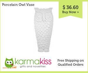 Porcelain Owl Vase