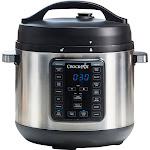 Crock-Pot Express Crock Multi-Cooker - 8 qt - Black/Stainless Steel