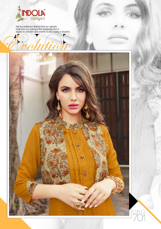 NITYANX » Lavina by indola designs heavy printed reyon with disigner embroidered Kurtis wholesale supplier and dealer surat