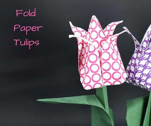 How to Fold Paper Tulips