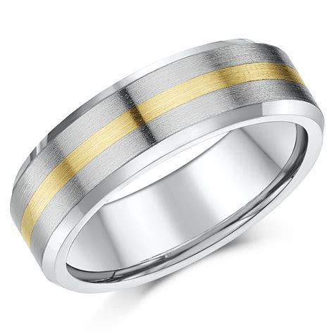 'Sale limited stock' 7mm Titanium & 9ct Yellow Gold