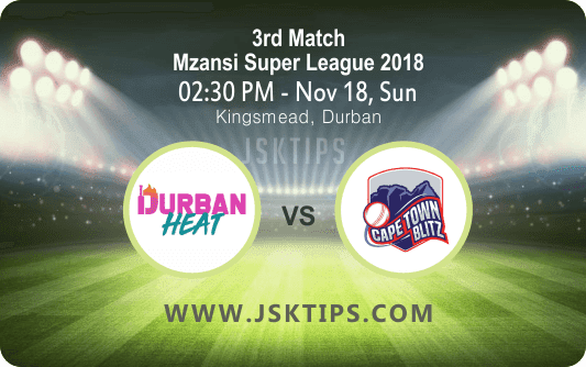 Durban Vs Cap Town 3rd Match Cricket Betting Tips