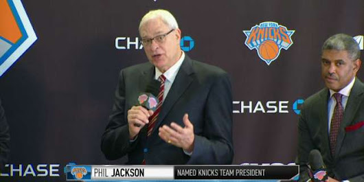 Phil Jackson takes charge of the Knicks; James Dolan takes his cue to get lost