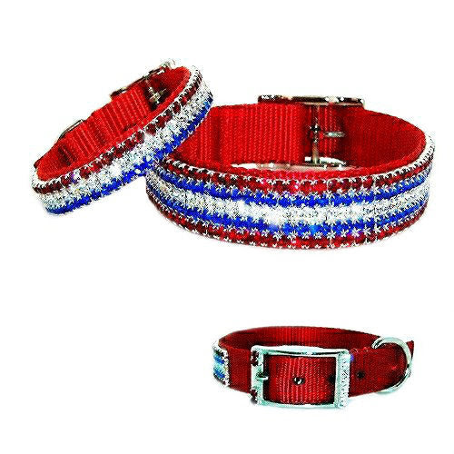 Star Spangled Crystal Pet Collar