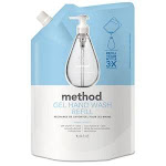 Method Gel Hand Wash Refill, 34 oz., Sweet Water Scent, Plastic Pouch (MTH00652)