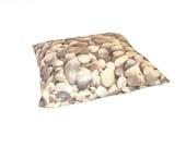 Rock Pillowcase - lumbar rectangular pebble stone natural photographic gray greige realistic landscape riverbed boulder 3D, HET - Customquiltsbyeva