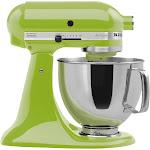KitchenAid Artisan Series 5 Quart Tilt-Head Stand Mixer- Ksm150, Green Apple