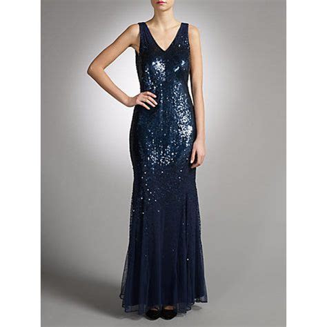 John Lewis Jessica Sequined Maxi Dress, Navy   Our wedding