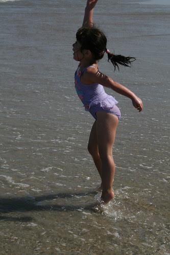 Dova dances in the water