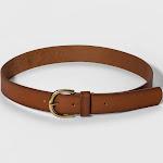 Universal Thread Women's Genuine Leather Jean Belt, Cognac